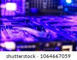 inside a high performance... | Shutterstock . vector #1064667059