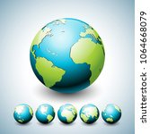 earth globe illustration with... | Shutterstock .eps vector #1064668079