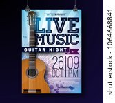 live music flyer design with... | Shutterstock .eps vector #1064668841