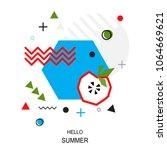 trendy style geometric pattern... | Shutterstock .eps vector #1064669621