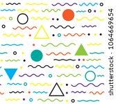 seamless geometric pattern ...   Shutterstock .eps vector #1064669654