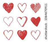 hand drawn set of different... | Shutterstock .eps vector #1064670911