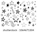 set of hand drawn different... | Shutterstock .eps vector #1064671304