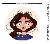 character emotions avatar... | Shutterstock .eps vector #1064677871