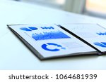 business report with the... | Shutterstock . vector #1064681939