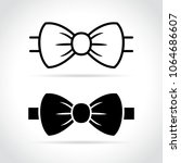 illustration of bow tie icon on ... | Shutterstock .eps vector #1064686607