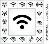 illustration of wifi icons set...   Shutterstock .eps vector #1064687237