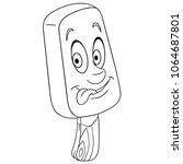 popsicle ice cream summer... | Shutterstock .eps vector #1064687801