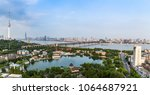 bird view at wuhan city china | Shutterstock . vector #1064687921