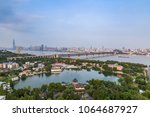 bird view at wuhan city china | Shutterstock . vector #1064687927