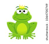 cartoon prince frog vector... | Shutterstock .eps vector #1064700749