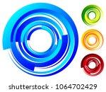 spiral  vortex elements. swirl  ... | Shutterstock .eps vector #1064702429