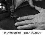 sewing process of the leather... | Shutterstock . vector #1064702807