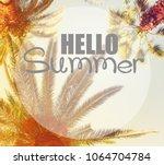 palm tree retro style | Shutterstock . vector #1064704784