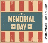 memorial day. retro background | Shutterstock .eps vector #1064713805