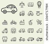 transport  vehicle icons set.... | Shutterstock .eps vector #1064717984