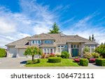 luxury house at sunny day in... | Shutterstock . vector #106472111