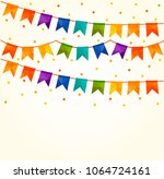 vector illustration of colorful ... | Shutterstock .eps vector #1064724161