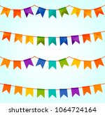vector illustration of colorful ... | Shutterstock .eps vector #1064724164