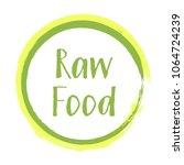 green yellow raw food diet... | Shutterstock .eps vector #1064724239