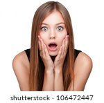 close up portrait of surprised... | Shutterstock . vector #106472447