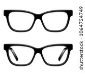 black framed glasses   Shutterstock . vector #1064724749