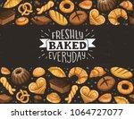 freshly baked everyday... | Shutterstock .eps vector #1064727077