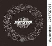 freshly baked everyday... | Shutterstock .eps vector #1064727095