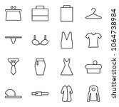 flat vector icon set   purse... | Shutterstock .eps vector #1064738984
