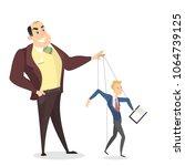 manipulation of employees. boss ... | Shutterstock .eps vector #1064739125
