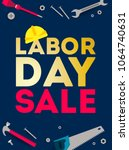 labor day sale illustration... | Shutterstock .eps vector #1064740631