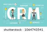 crm concept illustration. idea... | Shutterstock .eps vector #1064743541