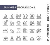business people icons set... | Shutterstock . vector #1064744894