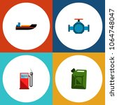 icon flat fuel set of gas... | Shutterstock . vector #1064748047