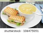A Grilled Tuna Sandwich With...