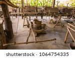 fishing equipment and kitchen...   Shutterstock . vector #1064754335