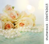 fresh roses flowers with pearls | Shutterstock . vector #1064762615