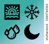 vector icon set about weather...   Shutterstock .eps vector #1064764361