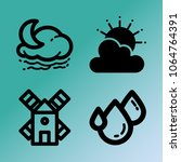 vector icon set about weather...   Shutterstock .eps vector #1064764391