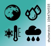 vector icon set about weather...   Shutterstock .eps vector #1064764535