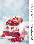 vanilla and berries ice cream...