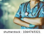 medicine doctor at the hospital | Shutterstock . vector #1064765321