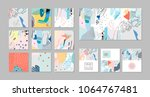 collection of creative... | Shutterstock .eps vector #1064767481
