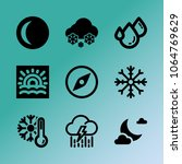 vector icon set about weather...   Shutterstock .eps vector #1064769629