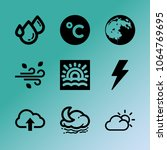 vector icon set about weather...   Shutterstock .eps vector #1064769695