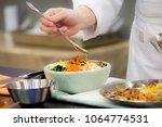 bibimbap  korean food  chef...   Shutterstock . vector #1064774531