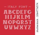 italy font. vector alphabet... | Shutterstock .eps vector #1064776574