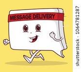 running message icon vector... | Shutterstock .eps vector #1064781287