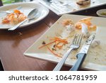 plate of food after eating... | Shutterstock . vector #1064781959