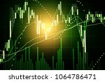 stock market data on digital... | Shutterstock . vector #1064786471